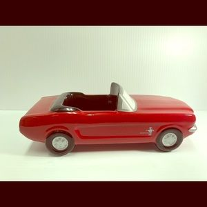 Red 1965 Ford Mustang Car